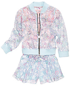 Hello Kitty Lace Bomber Jacket, Kitty-Face T-Shirt & Lace Shorts, Toddler & Little Girls