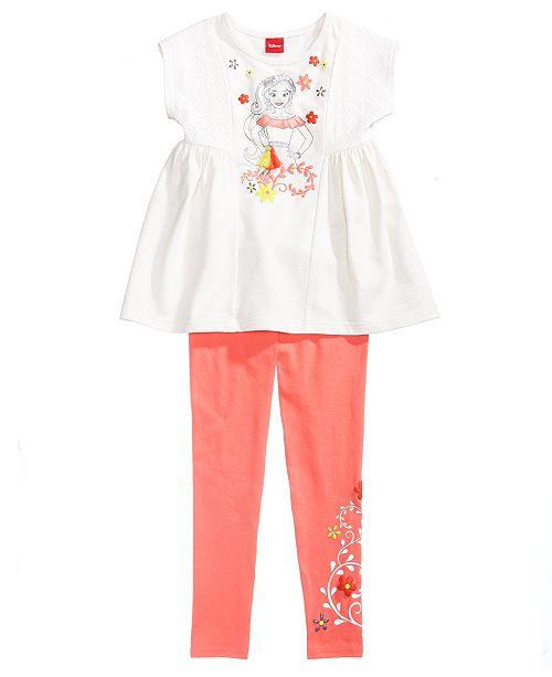 Disney 2-Pc. Elena Top & Leggings Set, Little Girls