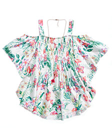 Belle Du Jour Off The Shoulder Smocked Top, Big Girls