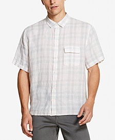 DKNY Men's Plaid Linen Shirt, Created for Macy's