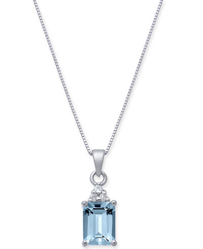 Aquamarine (1-5/8 ct. t.w.) & Diamond Accent 18