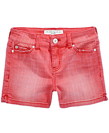 Celebrity Pink Faded Colored Denim Shorts, Big Girls (7-16)