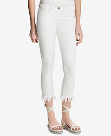 Max Studio London Frayed Skinny Jeans, Created for Macy's