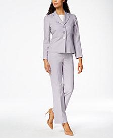 Le Suit Three-Button Pantsuit, Regular & Petite