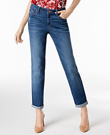 INC Curvy-Fit Cuffed Boyfriend Jeans, Created for Macy's
