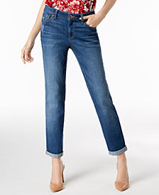 I.N.C. Curvy-Fit Cuffed Boyfriend Jeans, Created for Macy's