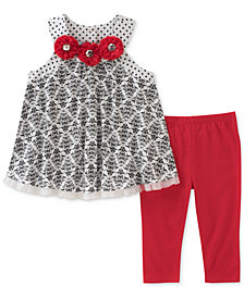 Kids Headquarters 2-Pc. Tunic & Leggings Set, Baby Girls