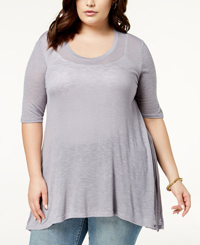 Celebrity Pink Plus Size Semi-Sheer Top