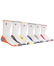 Polo Ralph Lauren Men's 6-Pk. Athletic Crew Socks
