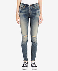 Calvin Klein Jeans Ripped Straight -Fit Jeans