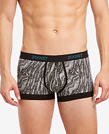 2(x)ist Men's Printed No-Show Trunks