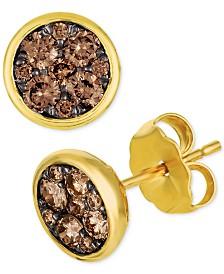 Le Vian Chocolatier® Diamond Cluster Stud Earrings (1/2 ct. t.w.)