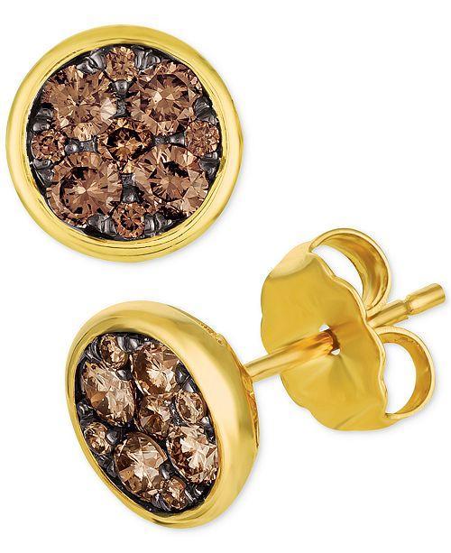 f40f4ada4 Le Vian Chocolatier® Diamond Cluster Stud Earrings (1/2 ct. t.w. ...