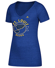 adidas Women's St. Louis Blues Banner Dazzle T-Shirt