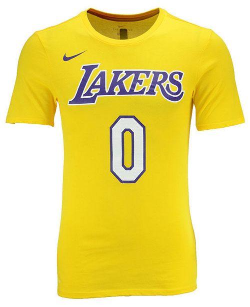 super popular 0e274 9e65b Nike Men's Kyle Kuzma Los Angeles Lakers Icon Player T-Shirt ...