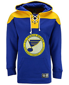 Majestic Men's St. Louis Blues True Classics Fleece Lace-Up Hoodie