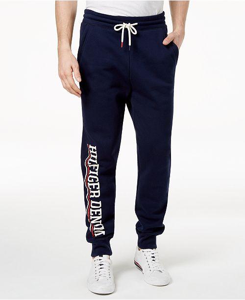 017a9c30a379 Tommy Hilfiger Men s Graphic-Print Jogger Pants   Reviews - Pants ...