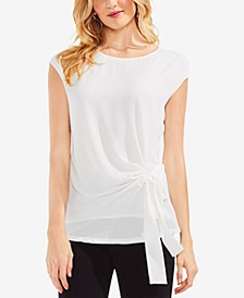 Side-Tie Cap-Sleeve Top