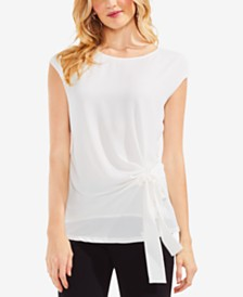 Vince Camuto Side-Tie Cap-Sleeve Top