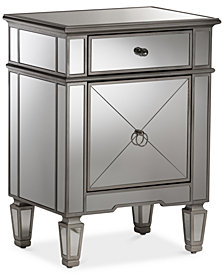 Claudia Mirrored Nightstand, Quick Ship