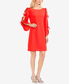 Vince Camuto Crêpe Tie-Sleeve Shift Dress