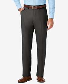 J.M. Haggar Sharkskin Classic-Fit Flat Front Premium Flex Waistband Dress Pants