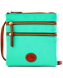 Dooney & Bourke North South Triple Zip Nylon Crossbody
