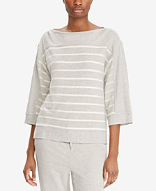 Lauren Ralph Lauren Dropped-Shoulder Top