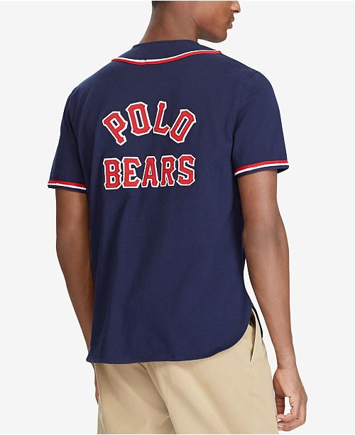 ... Polo Ralph Lauren Men s Polo Bear Baseball Jersey 97840bae08dc7