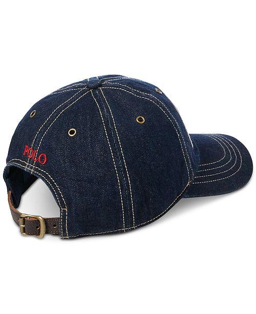 Polo Ralph Lauren Men s Denim Baseball Cap - Hats cc245bbfb6b