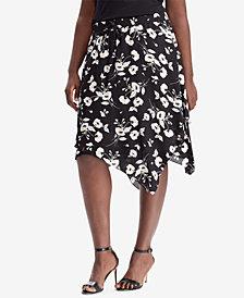 Lauren Ralph Lauren Plus Size Floral-Print Skirt