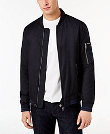 A|X Armani Exchange Men's Blouson Leather Bomber Jacket