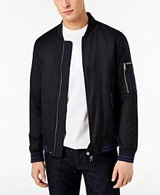 A|X Armani Exchange Men's Blouson Leather Bomber Jacket