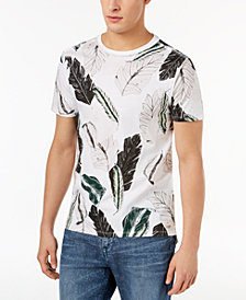 GUESS Men's Leaf-Print T-Shirt