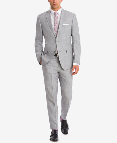 BAR III Light Gray Chambray Suit Separates, Created for Macy's