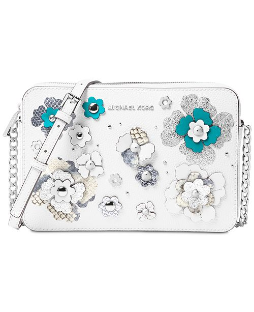 a54497392792 Michael Kors Large Jet Set Floral Embellished Crossbody & Reviews ...