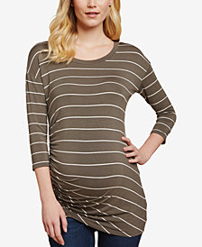Jessica Simpson Maternity Ruched Jersey T-Shirt