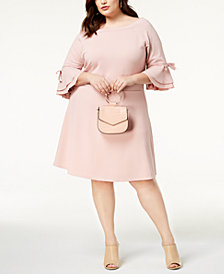 Say What? Trendy Plus Size Off-The-Shoulder A-Line Dress
