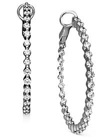 Diamond Hoop Earrings in 14k White Gold (2 ct. t.w.)