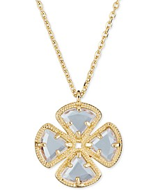"Green Quartz Clover Pendant Necklace (3-5/8 ct. t.w.) in 18k gold plated sterling silver, 16"" + 1"""