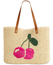 I.N.C. Kiraa Cherry Beach Tote, Created for Macy's