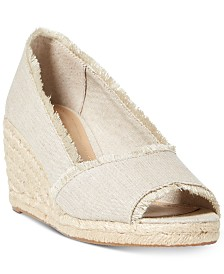 Lauren Ralph Lauren Carmondy Espadrille Wedge Sandals