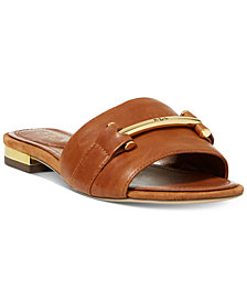 Lauren Ralph Lauren Davan Slip-On Flat Sandals