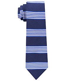 Tommy Hilfiger Men's Bold Premium Stripe Slim Silk Tie