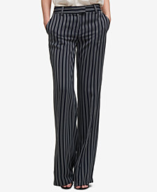 DKNY Striped Wide-Leg Pants, Created for Macy's