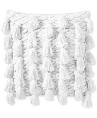 """All Tassel 18"""" x 18"""" Decorative Pillow, Created for Macy's"""