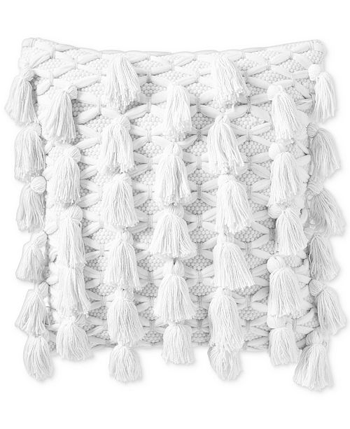 """Lucky Brand All Tassel 18"""" x 18"""" Decorative Pillow, Created for Macy's"""