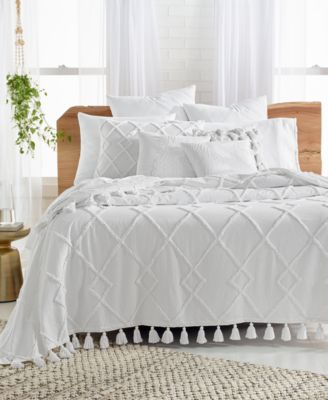 Diamond Tuft Twin Bed Cover, Created for Macy's