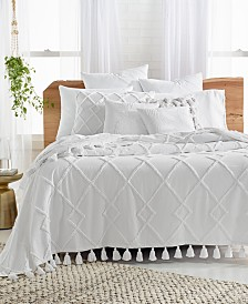 Lucky Brand Diamond Tuft Twin Bed Cover, Created for Macy's