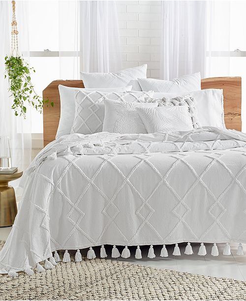 Lucky Brand Diamond Tuft Queen Bed Cover Created For Macy